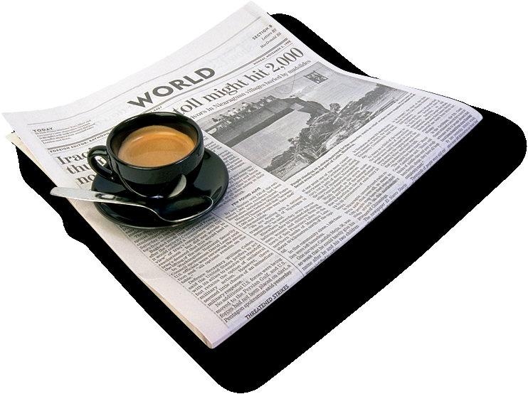 Ein Mann mit der Zeitung. Keep together!